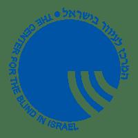 קישור לפייסבוק עם לוגו המרכז לעיוור