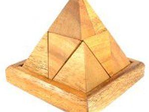 פאזל פירמידה עשוי מעץ