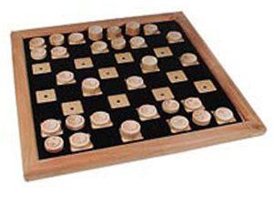 דמקה מיחד לעיוור, עשוי מלוח עץ עם חלוקה בולטת