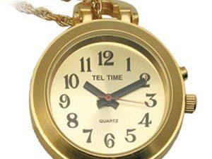 שעון תליון אלגנטי לאשה דובר אנגלית מוזהב