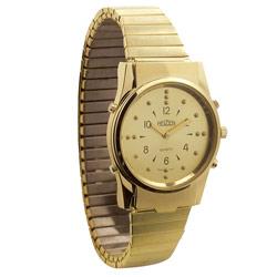 שעון יד ברייל לגבר דובר אנגלית זהב