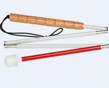 מקל עם גלגלת מתקפל ל 6 חלקים עם ידית שעם